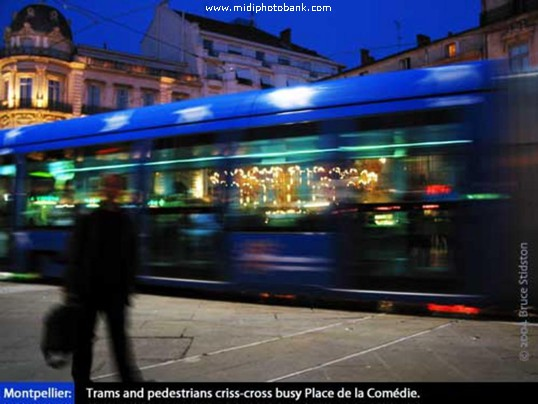 The Place de la Comedie - Montpellier